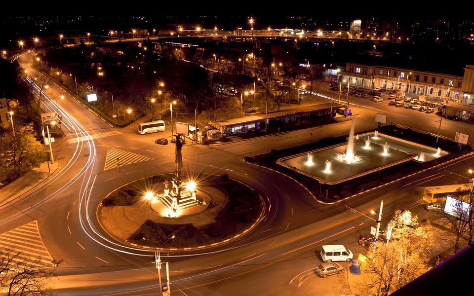 osvětlení města